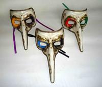 deniz maskeleri toptan satış-Toptan-Uzun gaga burun maskesi VENETIAN MASQUERADE MASKE MARDI GRAS