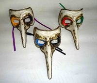 Wholesale masquerade mask nose - Wholesale-Long beak nose mask VENETIAN MASQUERADE MASK MARDI GRAS