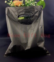 Wholesale Plastic Carrier Bags 25x35cm - New Fashion 50pcs lot Gold Little Dots Black Free Shipping Plastic Useful Boutique Gift Carrier Shopping Bags 25x35cm