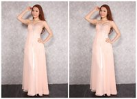 Wholesale Wholesale Lace Bridesmaid Dresses - 2016 New Pattern Beaded Bridesmaid Prom Dress New Beaded Long Bridesmaid Prom Formal Evening Cocktail Party Ball Gown Dresses Evening Gowns