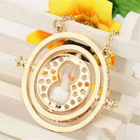 Wholesale hourglass necklaces - Popular Necklace Harry Time Turner Necklace Movie Jewelry Hermione Granger Rotating Hourglass Necklaces Horcruxes Magic Necklace