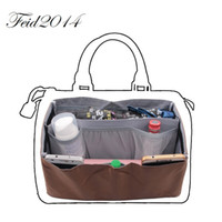 Wholesale Fit Coffee - Bag in Bag Handbag Wallet Purse Insert Organizer Tote Package Bag for Women Fit Speedy 25&30&35; Coffee Color
