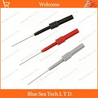 Wholesale Max Test - 3 pcs DIY 1.0mm back probe,1mm Test probe Adaptor with 4mm socket for car circuit test.30VAC-60VDC  Max.10A Free Shipping