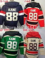 Wholesale Usa Olympics Hoodies - 2016 cheap New Red # 88 Patrick Kane Hoodies Sweatshirts Green Hockey Olympic Patrick Kane USA Hoodies Jersey