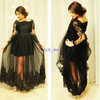 Wholesale Dresses Sexy Bride - Plus Size Prom Dress With Sleeves Bateau Illusion Beads See Though Beads Long Sleeve Evening Dress Floor Length Mother Of The Bride Dress