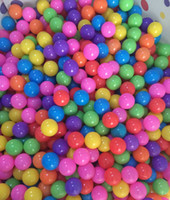 Wholesale Soft Inflatable Plastic Balls - 100Pcs lot Colorful Durable Fun Ball Soft Plastic Water Pool Ocean Ball Baby Kids Toys 5.5cm high quality