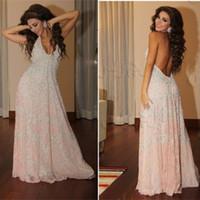 roupa sexy árabe venda por atacado-2016 Myriam Fares Árabe Dubai Prom Dresses V Neck Sexy Aberto Para Trás Apliques Árabes Mulheres Roupas Kaftan Abaya Longo Partido Pageant Vestidos