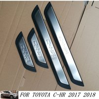 Wholesale Toyota Door Sills - New Stainless Steel Door Sill Scuff Plates fit for Toyota C-HR CHR 2017 Car Door Sill Protector for C-HR 2017