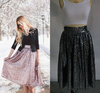 Wholesale Cheap Sequin Party Dress Xl - Real Image In Stock Sequins Lace Skirts Cheap Under Knee Bust Skirts Custom Made Sparkling Colorful Formal Dresses Party Gowns