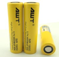Wholesale Hybrid Ecig - 100X Powerful AWT 18650 Cell Hybrid IMR 2600mah 18650 Battery High Discharge Current 40A 18650 Battery Cells Ecig Battery