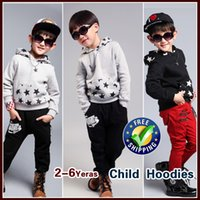 Wholesale Kids Free Sweater Patterns - Wholesale-free shipping 2015 new autumn children's sweater,boys 100% cotton Long-sleeved sweater,kids fashion Star pattern Hooded
