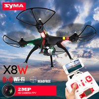 FPV rear time wifi cámara drones Syma X8W RC Quadcopter Drone 2.4G Helicóptero con cámara HD 2MP
