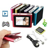 Wholesale Headphone Mp3 Player Sd Card - 6th Gen 1.8 Inch screen Clip FM Radio Mp3 Player Support 4 8 16 32GB Micro SD TF Including Headphone