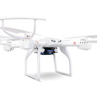 rc helicóptero rotor cámara al por mayor-Los zánganos profesión MJX X101 Quadcopter 2.4G 6-Axis helicóptero RC con cardán con la cámara 720P HD Wifi C4008 FPV VS SYMA X8C X600