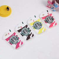 Wholesale Starbucks 4s - 3D STARBUCKS Coffee Ice Cream Cup Soft Silicone Case Cute For iphone 6 plus 5.5' 6G 4.7'' iphone6 4 4G 4S 5 5G 5S Skin Cover 50pcs