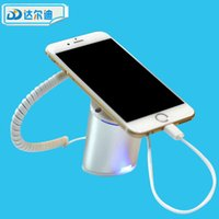 Wholesale tablet security alarm - Free DHL 24 sets lot Charge Alarm Cell Phone Stand Mobile Phone Tablet PC PAD Security Display ABS Magnetic Desktop Beveled Vision