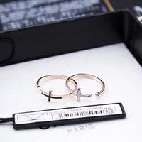 qualität porzellan waren großhandel-neue Eröffnung weiblicher südkoreanischer Akt als Einkaufsagentur Qualitätswaren überqueren die Fingerringe Persönlichkeit Rose Gold Ringe