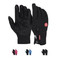 Wholesale Red Climbing Gloves - S5Q Men Women Winter Waterproof Outdoor Climbing Slip Warm Gloves Touch Gloves AAAFUR