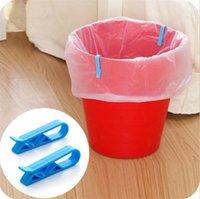 mavi düzeltme toptan satış-Yeni sıcak satış mavi Yaratıcı Sabit kelepçe Ev ihtiyaçlar çöp torbası kelepçe çöp torbası kaymaz kelepçe IA982