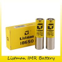 mod bataryaları yüksek drenaj toptan satış-Otantik Listeci IMR 18650 3000 mAh 40A Orijinal 510 Için 3.7 V Yüksek Drenaj Şarj Edilebilir Pil Konu Kutusu Mod 100% Hakiki 2221019