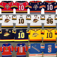Wholesale Brown Panther - Throwback Jersey #10 #96 Pavel Bure Florida Panthers 1999 New York Rangers 2003 Vancouver Canuck 1994 1995 1996 Custom Hockey Jerseys