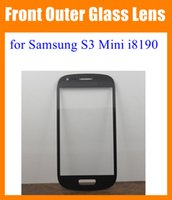 Wholesale S3 Mini Front Cover - For Samsung Galaxy S3 Mini i8190 Front Outer Glass Lens Screen replacement Digitizer Touch Screen Cover Blue White blue black pink SNP012