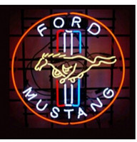 "Wholesale neon light tubes - NEW FORD MUSTANG NEON SIGN HANDICRAFT NEON LIGHT BEER BAR PUB REAL GLASS TUBE SIGN LOGO SIGN ADVERTISEMENT SIGN DISPLAY SIGN 17""x14"""