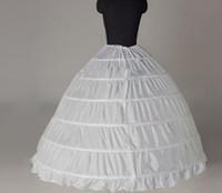 petticoats unterrock großhandel-Weiße Brautunterröcke rutschen Crionline 6 Bänder, die Petticoats-Zusatz-Ballkleid-Brautzusätze für Hochzeit Quinceanera-Kleid Wedding sind