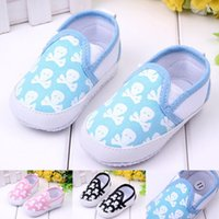 Wholesale Skull Baby Shoes Canvas - Baby skull printed Casual Shoes infant toddler Canvas shoes First Walker Shoes