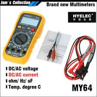 Wholesale Mastech My64 - Free shipping HYELEC Mastech MY64 multimeter digital professional electric tester ac dc amperemeter ohm meter lc meter