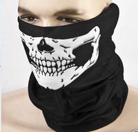 Wholesale biker scarfs - Skull Design Multi Function Bandana Ski Outdoor Sport Motorcycle Biker Scarf Face Mask CS Cosplay Skull magic scarf Free Shipping
