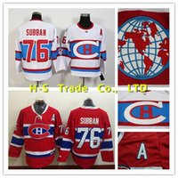 spun laced - Factory Outlet Montreal Canadiens Jersey Subban Hockey Jersey PK Subban Winter Classic Jersey White Red With Laces Size S XL