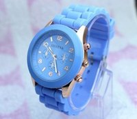 Wholesale Geneva Watches For Women Prices - Wholesale-Watch Hot Sale Trendy Geneva Silicone Jelly Watch Multicolor Quartz Watch For Girl Women Chilren Low Prices Free Shipping WQ005