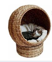productos de muebles al por mayor-acogedora cueva de gato de hoja de plátano natural, gato de gato de juguete de gato de juguete de producto de mascota muebles al por mayor