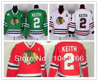 Wholesale Girls Kids Jersey - Kids Duncan Keith Jersey Youth Red Chicago Blackhawks #2 Duncan Keith Youth Jersey White Green For Boys Children Girls