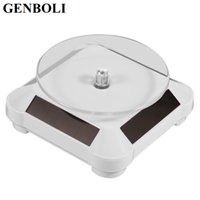 Wholesale display turntable solar - GENBOLI Solar Rotating Display Stand Jewelry Showcase 360 Turntable Rotating Watch Ring Display Stand