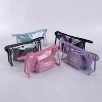 Wholesale Chinese Wholesale Clutch Bags - Designer hot sell three-piece waterproof Lady MakeUp Pouch Cosmetic Make Up Bag Clutch Handbag Toiletries Travel Cosmetic Bags trade2017