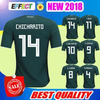 Wholesale Mexico Football Jersey - New Arrived 2017 2018 Mexico Soccer Jersey Home Away 17 18 Green CHICHARITO Camisetas de futbol Hernandez G DOS SANTOS football shirts