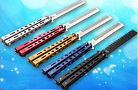 Wholesale Pro Fines - Delicate Pro Salon Stainless Steel Folding Training Butterfly Practice Style Knife Comb Tool