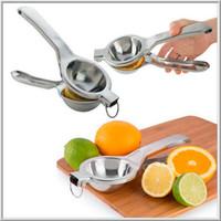 Wholesale Lime Press - 100pcs lot Stainless Steel Fruit Lemon Lime Orange Squeezer Juicer Manual Hand Press Tool