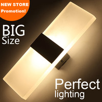 Wholesale Sitting Lamp - LED wall light living sitting room foyer bedroom bathroom modern wall sconce light square Acrylic LED wall lamp