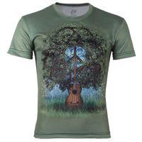 Wholesale V Guitar Neck - w1209 2015 Hot Sale High Quality Guitar Tree Printed 3D T-shirts,Green Punk 3D Short Sleeve Tee Shirt XS-6XL