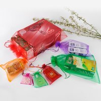 Wholesale door gift wedding - Organza Drawstring Bag For Wedding Candy Snacks Gift Wrapping Pouch Rectangle Jewelry Pearl Storage Bags Foldable 0 26zl5 B