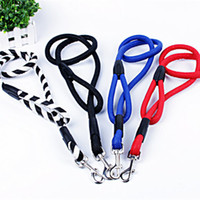 Wholesale Strong Leather Collars - 2016 New PU Adjustable Dog Pet Leash Lead Daily Walking Strong Strap Rope Traction Dog Harness Collar Leash 1.5*120cm Hot Sale