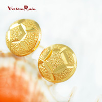 Wholesale 24k Gold Stud Earrings - WesternRain Women 2017 New Coming 24K Gold Stud Earrings Women Fashion Cheap Fashion Spherical Gold Plated Earrings 6 set E401