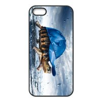 Wholesale Iphone 4s Turtle Cases - Free Shipping Phone Case Cover For iPhone 4 4s 5c 5 5S 6 6s Plus,Turtle Walking Wear A Blue Hat Hard Mobile Cover