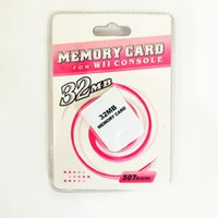 Wholesale Memory Cards 512mb - Wholesale cheaper price 4mb 8mb 16mb 32mb 64mb 128mb 256mb 512mb Memory Card for Nintendo Wii Memory Card