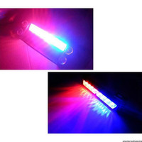 Wholesale Red Blue Emergency Flashing Lights - New Car Styling 8 LED Red Blue Car Police Strobe Flash Light Dash Emergency 3 Flashing Fog Lights