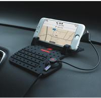 mattenhalter für telefon großhandel-Telefon-Halter-Auto-Aufladungs-Standplatz-Halterungen mit nicht-Rutschmattenauflage-Magnet-Verbindungsstück und Kabel für iPhone für Samsung