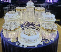 Wholesale a Wedding Cake Stand k9 Crystal Anniversary Company Celebrations Birthday Decoration Home Ball